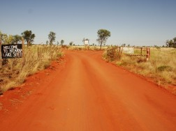The Canning Stock Route and the Nyarna turn-off coming from the north