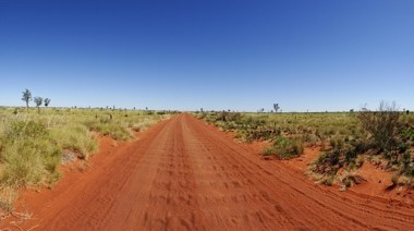 The Canning Stock Route heading south from Nyarna