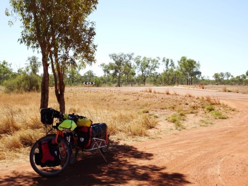 The End: the junction of the Tanami Road and the Great Northern Highway