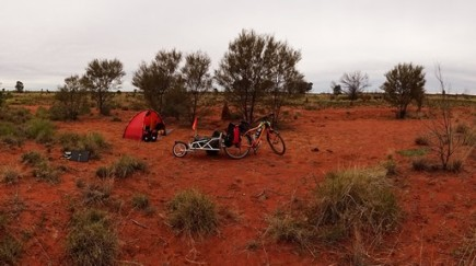 Great camp site along some strange track. Camels passed by my tent in the night and I didn't even know it
