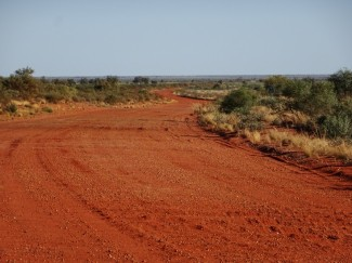 And the Tanami snaking away north
