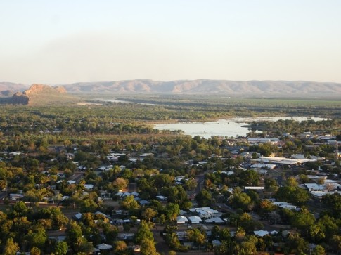 Lake Kununurra, harbour to Kununurra. Ord River mid-background