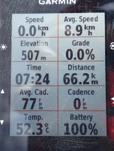 Pretty much the peak of the Pentecost Range. 53 C again. And 9 kph