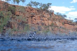 Handy having a waterproof camera: the Gorge's modest trickle at impact level