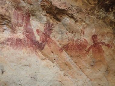 Aboriginal rock art at Tunnel Creek