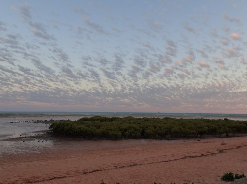 Very early morning Roebuck Bay. It's my view from the caravan park.