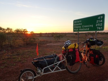 Sunrise and road signs