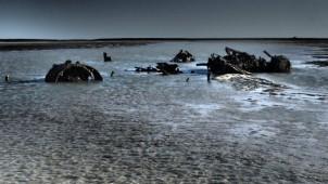 Wreckage & water