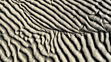 Stunning patterns in the sand.