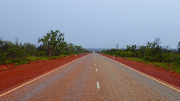 The Great Northern Highway. And gray rainy skies