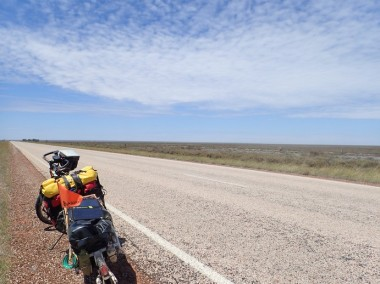 Roebuck Plains. Fierce headwinds.