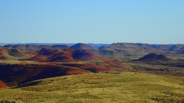 Looking west along the escarpment