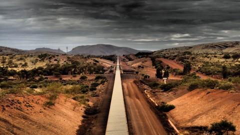 Conveyor belt to Tom Price, 27 km away