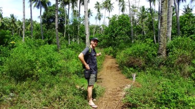 Stuart and I walked into the village. Here he's hoping to remember the track for when we return