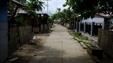 There are not many roads in the village and even fewer motorised vehicles, and no cars