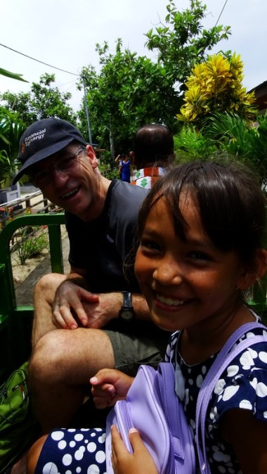 Along with Sven's daughter. The pickup ran out of gas 200 m from Panorama. Island life