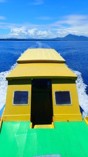 Empty dive boat, save for the few, the 3 who are gonna go for 50 m