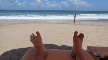 On the way back to Australia I stopped off for a few days in Legian, Bali. Relaxing after my 'hard' two months on Bunaken