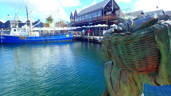 Fremantle habour. A gentrified fishing harbour