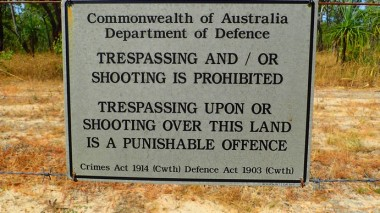 'Shooting is Prohibited' on live firing land. Surely there's a contradiction there somewhere