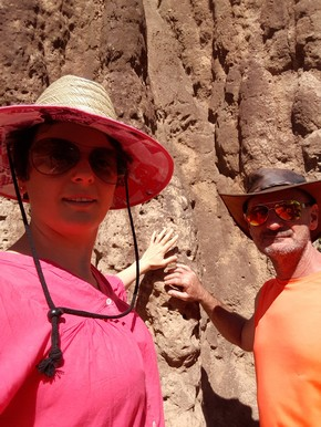Selfie against cathedral termite mound. Gives an idea just how huge these things are