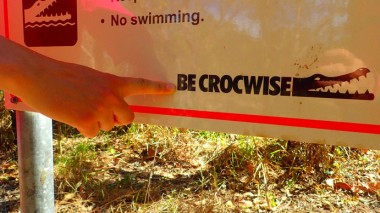Be Crocwise! Very sensible advice