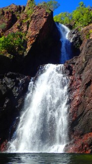 Wangi Falls being impressive