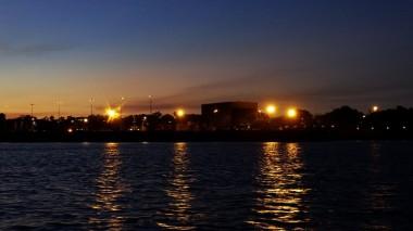 Darwin harbour night-lights