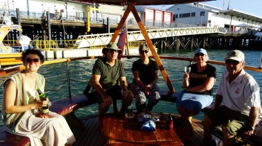 The stern of Streeter and a nice group of people to share the cruise with