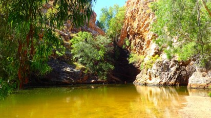 Butterfly Gorge. The only designated safe swimming hole in Australia's second largest National Park
