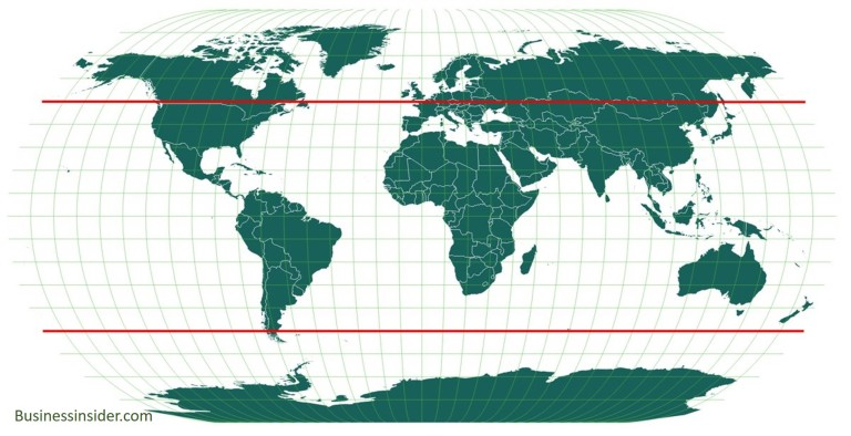 50 north south parallel latitude globe_source