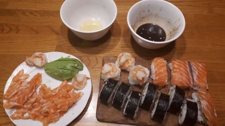 I got pretty good at sushi, sashimi and nagiri roles